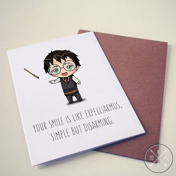 Harry Potter Themed Valentines Day Card