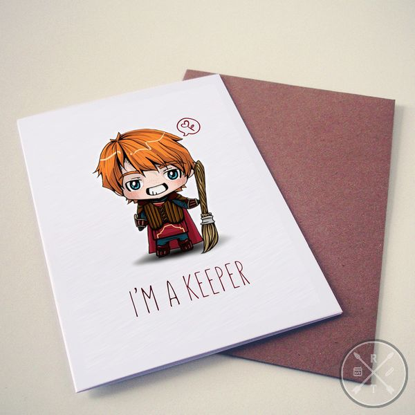 Harry Potter Themed Valentines Day Card keeper