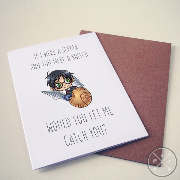 Harry Potter Themed Valentines Day Card seeker