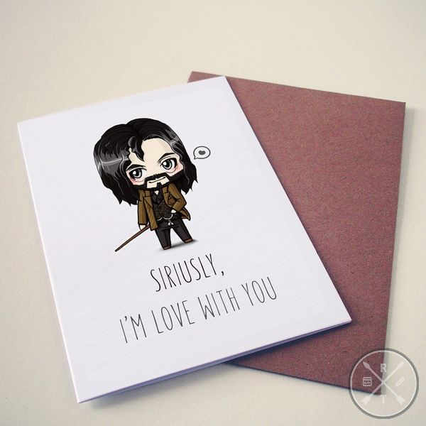 Harry Potter Themed Valentines Day Card siriusly