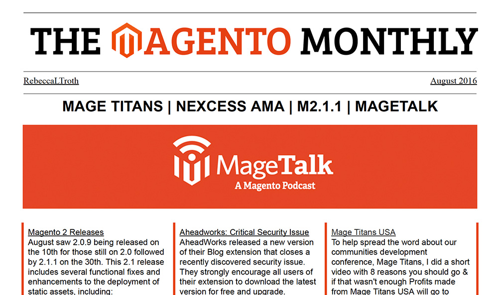 Magento-Monthly-August